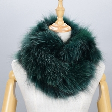 100% Natural Fur Shawl Luxury Silver Fox Fur Collar Scarf Women Real Fox Collars Down Wear Scarf Wholesale(China)