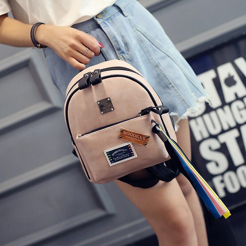 LEFTSIDE 2017 Small Backpacks PU Leather Fashion Ladies Funny Tassels Backpack Back Pack Girls School packs Trendy Women Bags <br><br>Aliexpress