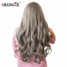 SHANGKE 26'' Long Wavy Colored Hair Wigs Heat Resistant Synthetic Wigs For Black White Women Natural Female Hair Pieces 7 Colors