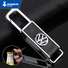 Vw genuine leather car keychain vehienlar bora passat steps leaps suitcase emblem keychain