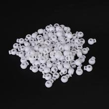 Free Shipping 100pcs White Round Ball Cordlock Cord Lock Toggles Stopper
