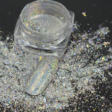 0.2g Galaxy Holo Glitter Laser 3D Bling Flakes Sequin Nail Art Powder Pigment Holographic Chameleon Irregular Designs TRBY-SL01