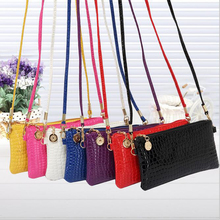 2016 new style Women Purses Bag Ziper and Hasp Clutch Bags Casual Multi-color Shoulder Cross Toes wallets