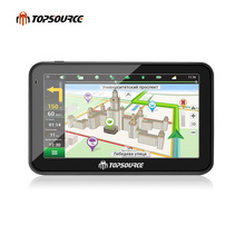 "TOPSOURCE 7"" hd car gps navigation truck gps navigator preload Vehicle gps map windows ce6.0 800mhz 8gb MSB 2531 ARM Cortex A7(China)"