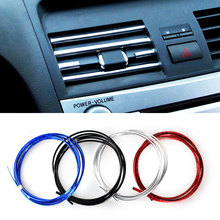 15Metres Auto DIY Car-Styling U Style Decoration Strip Grille Chrome Sticker Fit For Skoda Honda Volvo Mazda Jeep VW Car Styling