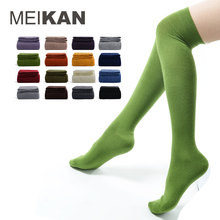 Over Knee Socks Women Cheap 5Pairs Lot Chaussettes Femme MEIKAN New Brand Long Sox Color Sport Calcetines Cosplay High Stocking(China)