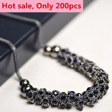 Free shipping! Wholesale Imitation diomands rhinestone acrylic choker crystal water drop snake chain necklace elegant Jewelry