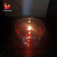 Dream fire, Dancing flame, Crystal Jelly candle, Cup in cup, Light in the light, unique product, 2 pcs a lot