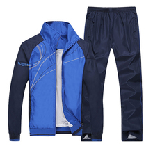 Men Running Sets Gym Sportwear Autumn Windproof Table Tennis Badminton Tracksuits Sport Training Jogging Jogger Suits(Hong Kong)