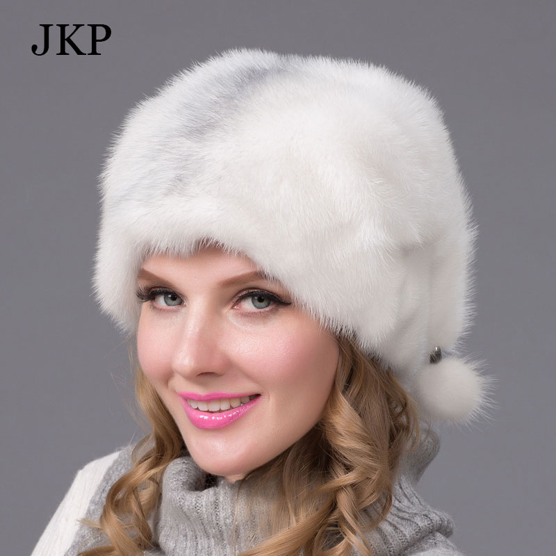 Winter fur hat for women real mink fur cap with flowers design 2016 Russia new fashion style good quality ladies luxury headgearОдежда и ак�е��уары<br><br><br>Aliexpress