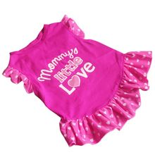 Cute Princess Dog Cothes Dress Puppy Bow Vest T Shirt Costume Dog Clothing