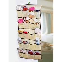 OUTAD 1 pcs 20 Pockets Over Door Cloth Shoe Organizer Hanging Hanger Closet Space Storage Hot Worldwide