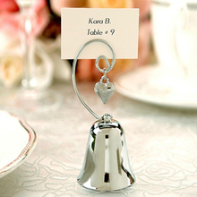 12 Pcs/Lot  Bell Table Card Holder for Wedding Favor / Dinner Party Name Card Holder As Holiday Birthday Gift