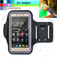 Fashion Workout Sports Running Riding Arm Band Case for Amigoo H8 Leather Case Amigoo H9 R200 H2000 Pouch Cover Phone Bag