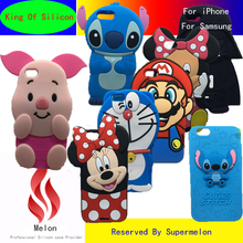 3D Cartoon Silicon Stitch Minnie Phone Case For iPhone 4 4S 5 5S 6 6S 7 Plus For Samsung Galaxy S5 S6 S7 Edge A3 A5 j3 j5 2016