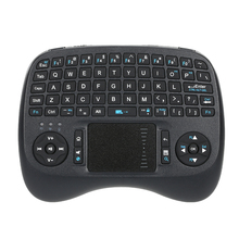 iPazzPort Wireless Mini QWERTY Keyboard with Backlit and Mouse Touchpad KP-810-21TL for Android TV Box Raspberry HTPC Smart TV