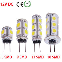 G4 LED 12V DC Tower Bulb Lamp For RV/Boat/Dome Light 5/9/13/18 SMD 5050 LED Lights For Home White Warm White 10pcs/lot