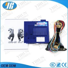 Arcade ame Elf 619 in 1 pcb board for CGA monitor and LCD VGA  with 28 pin jamma Wire harness for DIY arcade game kit parts