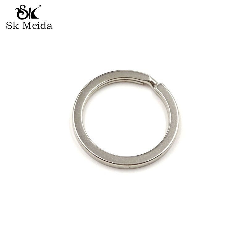 15mm MIXED ROUND SPLIT KEY RING DOUBLE LOOP CRAFTS FINDINGS GIFT KEYRINGS