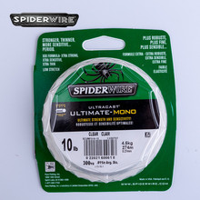 Spiderwire Ultimate-Mono 329yd Nylon Fishing Line Monofilament Fishing Wire Strong Sensitive Nylon Wire Cord Reel String 4-20LB(China)