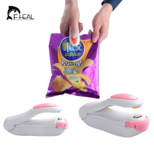 FHEAL Portable Hand Pressure Mini Sealing Machine Heat Sealer Capper Food Saver Storage For Plastic Bags Package(China)