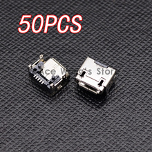 50pcs Micro USB 5pin B type Female Connector, Widely used in tablet, phones and PDA Micro USB Jack Connector Charging Socket