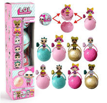 LQL Surprise Doll One Doll In a Blind Egg Toy Magic Funny Removable Ball Novelty Unpacking Doll Toys Girls gifts