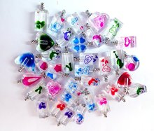 Free shipping!!!500pcs/lot mixed color mixed design Crystal perfume vial dolphin, Fragrance vial pendant