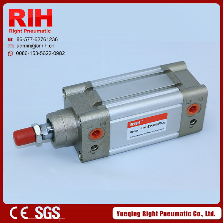 RIH Big Quality Cylinder pneumatic elements, DNC(ISO)6431 standard square cylinder DNC40*250 bore40mm stroke250mm<br>