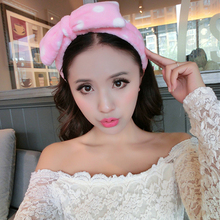 Velvet Headband Women Hair Accessories Wash Shower Cap Head Ornaments Elastic Hair Band Headband Elastic Makeup,Facial mask