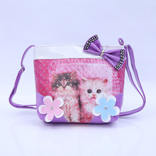 2016 new Animal Bear cartoon school bags for student pretty kids shoulder bag  children pu girl bagButterfly Printed Crossb
