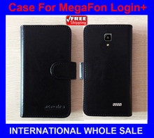 Hot! MegaFon Login+ Case Phone Factory Price Flip Leather Original Case Exclusive Cover For MegaFon Login Plus Case tracking(China)