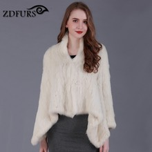 ZDFURS * new style hand made knitted rabbit fur coat A font rabbit fu jacket for women fashion rabbit outerwear ZDKR-165034