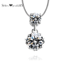 Brand Jewelry SHIPEI Top Women's Fashion White Gold Plating with Round Crystal Necklace,Carat Weight:2.00(China)