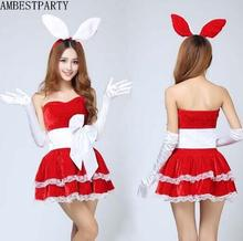Hot 2017 New year clothes Christmas Costumes Sexy Red Christmas Dress Cosplay Santa Claus Costumes Adults Uniform AMBESTPARTY