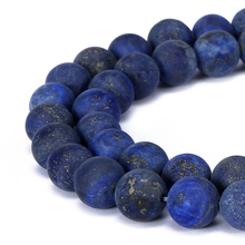 4-20mm natural stone beads Round Gorgeous Matte Blue lapis lazuli loose Beads For DIY Jewelry making Necklace Bracelet