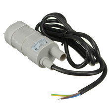 12V DC 1.2A 5M 10L/Min 600L/H 6-15V For solar Aquarium Three Core Micro Submersible Motor Water Pump Best Price(China)