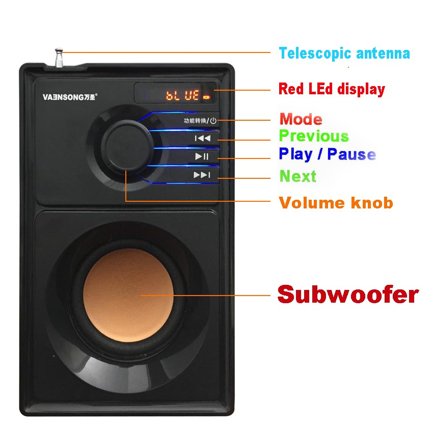 Stereo Wooden Bluetooth Speaker 14