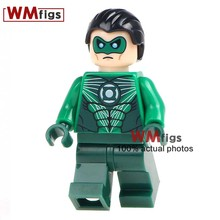 Building Block Single Sale WM335 Hal Jordan Green Lantern With Mask DC Super Hero Figures Super Heroes Gift Toys for Children(China)