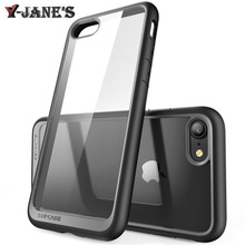 SUPCASE Fashion Shockproof Clear Case Caso For iPhone 7 7Plus Rugged Armor Hybrid Cover For iPhone 7 7 Plus Shock Phone Bags