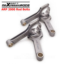 Forged Connecting Rods & Bolts For VW Golf MK4 Gti 1.8T 2.0L H-beam 800HP 144mm Center Length 4340 Forged Floating Shot Peen(China)