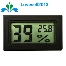Free Shipping! Black LCD Digital Thermometer Hygrometer Module Indoor Electronic Temperature Humidity Meter(China)