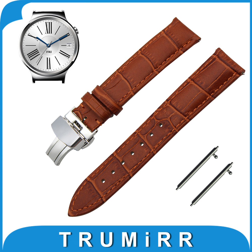18mm First Layer Calf Genuine Leather Watchband Quick Release Strap for Huawei Watch / Fit Honor S1 Wrist Band Belt Bracelet<br><br>Aliexpress
