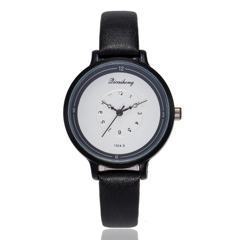 2018 High Quality women fashion casual watch luxury dress ladies Leather Band Analog Quartz Wrist Watch Clock relogio J13#N (8)