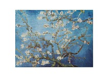 Framed Van Gogh Almond Blossom Oil Painting Floral Giclee Canvas Printed Flowers Pictures Hang for Bedroom Home Decor