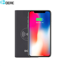 Buy DCAE Wireless Charger Power Bank iPhone X 8 Plus Fast Wireless Charging Pad Samsung Galaxy S8 Plus Note 8 S7 Edge for $17.03 in AliExpress store