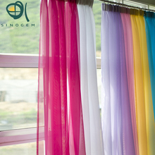 Sinogem Fashion europe gauze curtain 20 colors size 140*260cm wholesale 2pcs/lot sheer tulle curtain for living room cortinas(China)