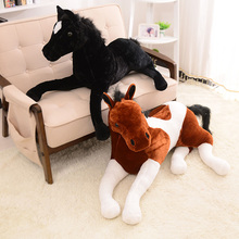 70*40cm 4 Styles Simulation Model Animal Brown White Horse Stuffed Plush Toy Good Quality New Present Gift Doll