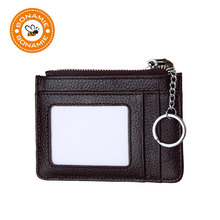 Buy BONAMIE 4Color Women Zipper Genuine Leather Credit Card Holder Photo Coin Purse RFID Mini Wallets Key Holder Small Cash Purse for $6.66 in AliExpress store