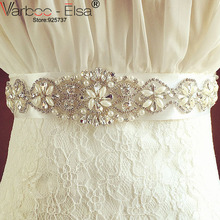 Crystal Bridal Belts for Wedding Dresses 2016 Cintura Sposa Rhinestone Wedding Belts And Sashes for Wedding Accessories(China)